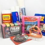 Мочалки, шкребки, серветки та інше для прибирання