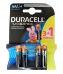 DURACELL TurboMax AAА батарейки алк. 1.5V LR03 3шт+1 б/к Бельгия