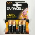 DURAСELL Basic AA бат. алкалиновые 1.5V LR6 4шт Бельгия