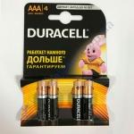 DURAСELL Basic AAА батарейки алкалиновые 1.5V LR03 4шт Бельгія