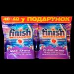 Finish Guantum таблетки (40шт+40шт б/к) для посудомоечных машин