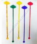 """Мешалка """"Зонт"""" цветная 100 шт 18,5 см"""