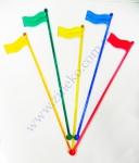 """Мешалка """"Флаг"""" цветная 100 шт 19,5 см"""