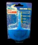 Туалетный утенок подвесной Аква синий с корзинкой для унитазов