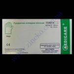 Перчатки MEDICARE виниловые прозрачные в боксе разм.М 100шт