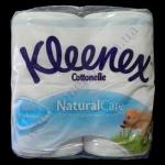 Туалетная бумага Kleenex 3сл. 4рул. премиум натурал целлюл. бела