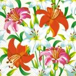 Салфетки 33х33 Королевские лилии Марго 20шт