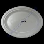 Тарелка-А овальная d=26*20см белая 100шт (12/я)