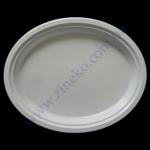 Тарелка-А овальная d=31*25см белая 100шт