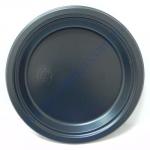 Тарелка-АС d=22см черная премиум 50шт (16я)