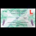 Перчатки SFM фиолетовые нитрил без пудры 100шт р.L в боксе 7%