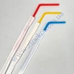 Трубочки в инд. бум.уп. разноцветные с изгибом  21см 200шт