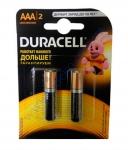 DURACELL Basic AAА батарейки алкалиновые 1.5V LR03 2шт Бельгия
