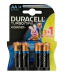 DURACELL TurboMax AA батарейки алк. 1.5V LR6 3шт+1 б/к Бельгия
