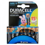 DURACELL TurboMax AAA батарейки алкалиновые 1.5V LR03 8шт Бельги