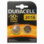 DURACELL плоские батарейки литиевые 3V СR-2016 2шт