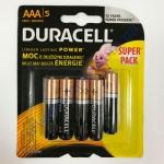 DURAСELL Basic AAА батарейки алкалиновые 1.5V LR03 4+1шт Китай