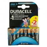 DURAСELL Basic AAА батарейки алкалиновые 1.5V LR03 6шт+2шт б/к Б