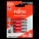 FUJITSU AАA батарейки лужные Alkaline Univ Power LR03 4шт Индоне