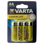 VARTA SUPERLIFE AA батарейки 1.5V 4шт ZINK-CARBON