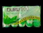 Мыло DURU туалетное (4+1)шт*90г кашемир, зел.чай, морс.минералы