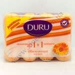Мыло DURU туалетное 4*90г календула и крем