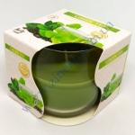 Свеча 130г в стекле аромат зеленый чай парафин 71-83