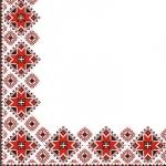 Салфетки 24х24 3-х слойные Марго украинский орнамент