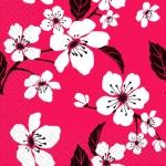 Салфетки 33х33 цвіт вишні Марго 20шт