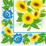 Салфетки 33х33 соняшник-орнамент Марго 20шт