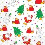 Салфетки 33х33 Санта Клауси Марго 20шт