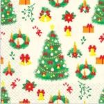 Салфетки 33х33 Рождество Марго 20шт