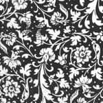 Салфетки 33х33 черно/белый орнамент Марго 20шт