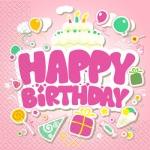 Салфетки 24х24 3сл. 20шт с днем рожденья Марго