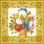 Салфетки 33х33 Класические цветы Марго 20шт