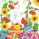 Салфетки 33х33 Пасхальная свечка Марго 20шт