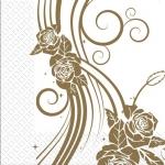Салфетки 33х33 3-сл. Свадебные розы Марго 50шт