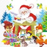 Салфетки 33х33 Дед Мороз Марго 20шт