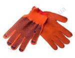 Перчатки П-10к105 оранж ХБ-100% вязанные (ладошка-точка) 3 нитки