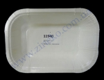 Тарелка бумажная глубокая ламинирован. 13,5х20х4см белая 100шт