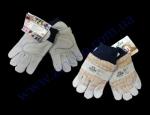 Перчатки 4504 комбинированные (кожа+хлопок) манжет вязаный