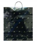 Пакет с пластиковой ручкой 40*43+3см/100 Подарочный черный