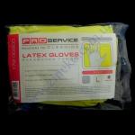Перчатки плотные PRO-17200500 унив. желтые с ХБ напыл. р.L 2пары