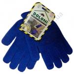 Перчатки 646 синие (ладошка-нанесение ПВХ синее) 2нитки ХБ60%/ПЕ