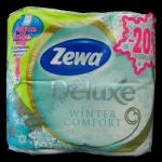 Туалетная бумага ZEVA 3сл 4рул./150отр целлюлоза