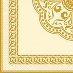Салфетки 33х33 Золотая рамочка Марго 20шт