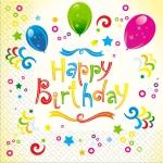 Салфетки 33х33 З днем народження-Happy birthday Марго 20шт