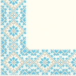 Салфетки 33х33 Премиум вышиванка Марго 20шт
