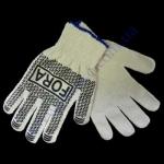 Перчатки FORA серые (ладошка-нанесение ПВХ черное) ПЕ30%/ХБ70%