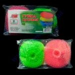 Набор скребков вяз. цветных пластиковых кухонных ПРОФИ 2шт